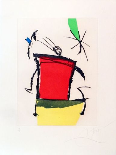 Joan MIRO - Estampe-Multiple - Le Chanteur des rues V