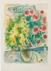 Marc CHAGALL - Stampa-Multiplo - Roses et Mimosa's (Nice et la Côte d'Azur series)