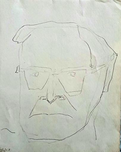 Michael GROSS - Drawing-Watercolor - Self Portrait