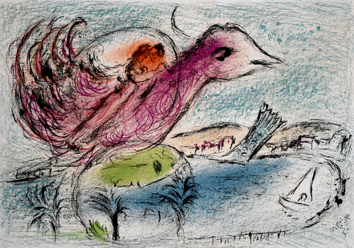 Marc CHAGALL - Estampe-Multiple - The Bay | La baie