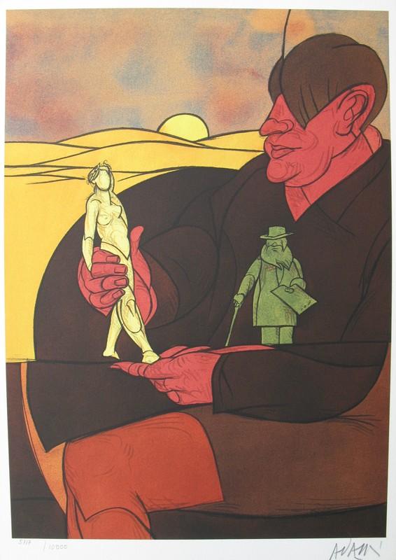 Valerio ADAMI - Estampe-Multiple - Statuette