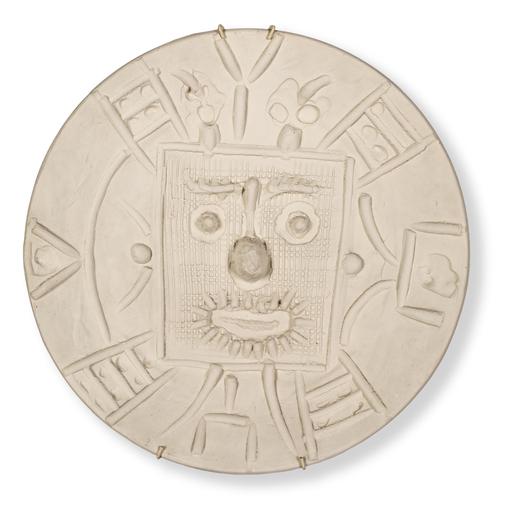 Pablo PICASSO - Ceramiche - Face in a square