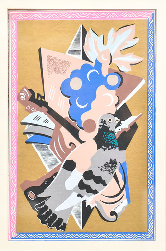 Gino SEVERINI - Print-Multiple - Nature morte au Pigeon