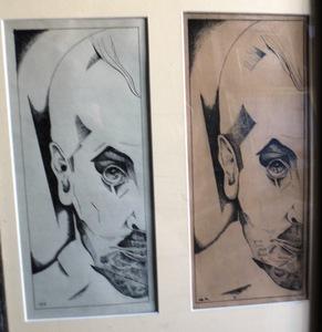 Youri Pavlovitch ANNENKOFF - Disegno Acquarello - Portrait of artist Alexander Iacovleff