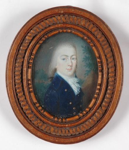 """Bernhard VON GUÉRARD - Miniatura - """"Prince Sinsendorf"""", portrait miniature on ivory"""