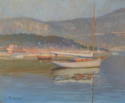 Marcel CANET - Peinture - Voilier vers Alger