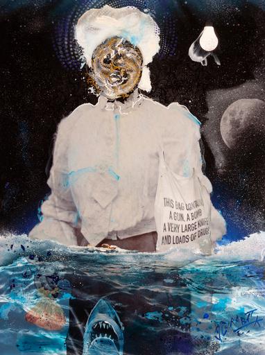 Jean-Luc CURABET - Painting - Vivons d'anges, heureusement !