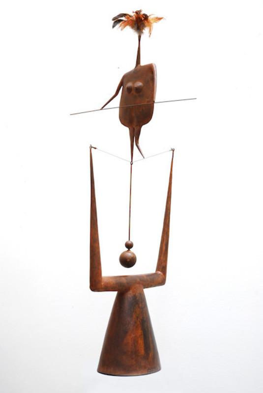 Philippe HIQUILY - Sculpture-Volume - La Funambuleuse,