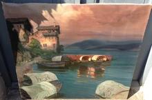 Albert MEINDL - Painting - Barcos pescadores en el Lago Garda