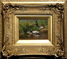 Carl I JUTZ (1838-1916) - Enten am Wasser