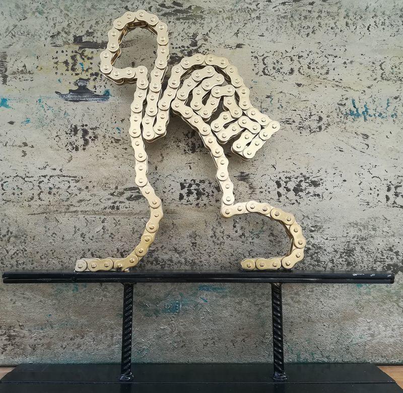 Philippe LELEU - Sculpture-Volume - Alopithèque métal violet