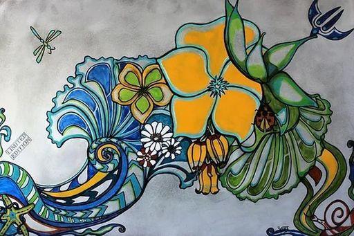 BATLI - Painting - Power Flowers
