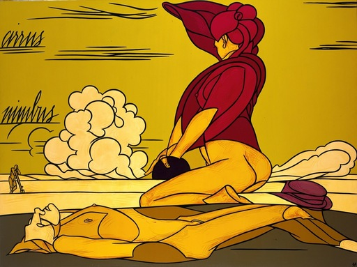 Valerio ADAMI - Painting - La nuvola