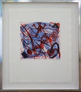 A.R. PENCK - Grabado - Wirbelwind - Whirlwind