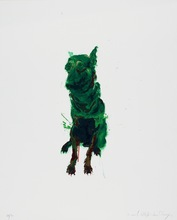周春芽 - 版画 - Green Dog #1