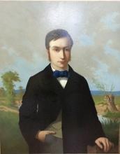Alfred Charley TOUCHEMOLIN - Pintura - Portrait de jeune homme