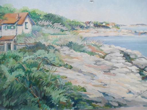 Nalla SICARD - Peinture - Paysage côtier.