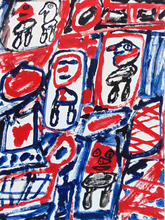 Jean DUBUFFET (1901-1985) - Line with Five Characters