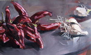 Christoff DEBUSSCHERE - Pintura - Les piments