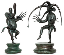 Mikhail CHEMIAKIN - Sculpture-Volume - Two Bronzes from the Carnival at Saint Petersburg series
