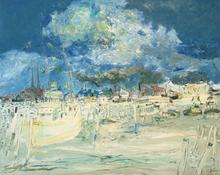 Jean FUSARO - Pintura - Envolée de nuages sur Ostende
