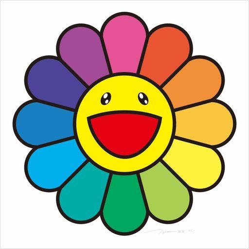 Takashi MURAKAMI - Print-Multiple - Smile On, Rainbow Flower!!