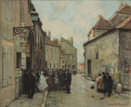 Jules René HERVÉ - Peinture - Mariage à LANGRES