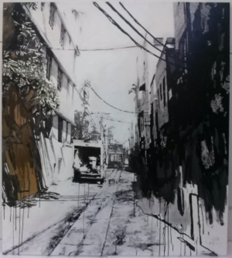 Miha STRUKELJ - Painting - South Beach Alley II