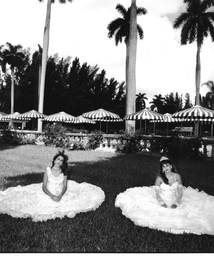 Mary Ellen MARK - Photography - Two Girls in Dresses on Lawn, Miami 1986, Quinceanera