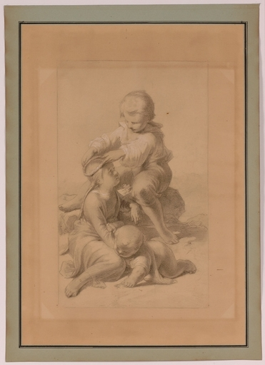 "Jakob GRÜNENWALD - Dessin-Aquarelle - ""Playing Children"" by Jakob Grünenwald, ca 1950"