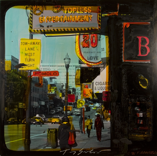 Tony SOULIÉ - Pittura - Untitled  - San Francisco - (street scene)