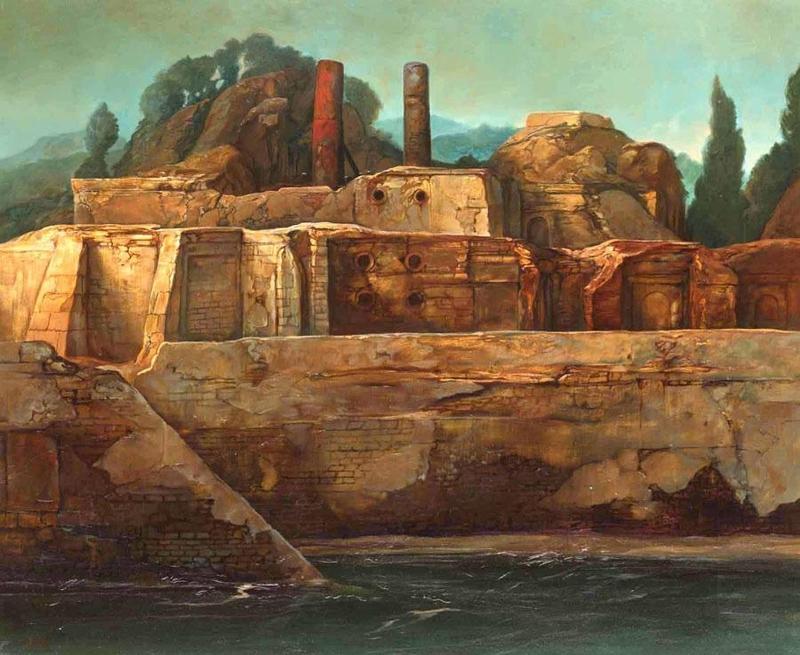 Samuel BAK - Painting - Landscape