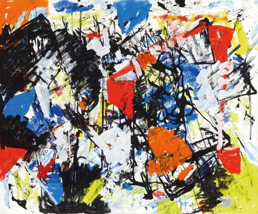 Alexandre ISTRATI - 绘画 - Composition Taches Oranges et Rouges, 1991