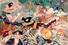 Louis VALTAT - Pittura - Les chapeaux