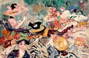 Louis VALTAT - Peinture - Les chapeaux