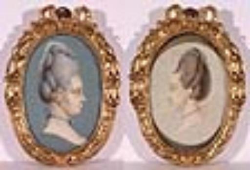 Carl Friedrich HOLTZMANN - Miniature -  Two Miniatures, 1778, Watercolor