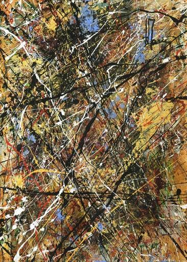 Jean-Jacques MARIE - Zeichnung Aquarell - Composition A419