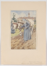 """Richard FAULHAMMER - 水彩作品 - """"In Nunnery"""" by Richard Faulhammer, 1920's, Watercolor"""
