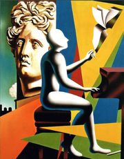 Mark KOSTABI - Painting - The compression of the present