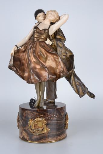 Dimitri CHIPARUS - Sculpture-Volume - Pierrot and Columbine