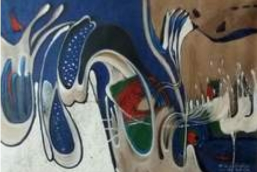 R.U. SUBAGIO - Painting - Water dance