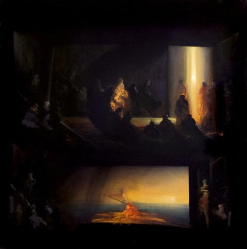 Eric LEPOUREAU - Painting - Sans titre, ref 09/51/39