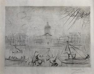 Salvador DALI - Print-Multiple - L`Academie des beaux Arts