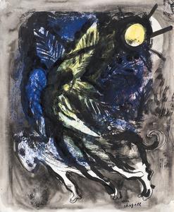 Marc CHAGALL - Dessin-Aquarelle - Ange