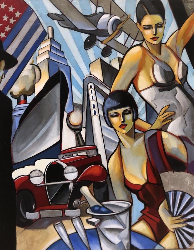 Stéphane GISCLARD - Painting - Le voyage