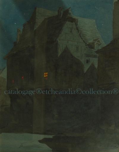 Ulpiano CHECA Y SANZ - Drawing-Watercolor - Anochecer - Tombée de la Nuit