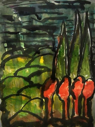 Nedzad Nedzo DURAKOVIC - Drawing-Watercolor - Between dawn and autumn -  2014
