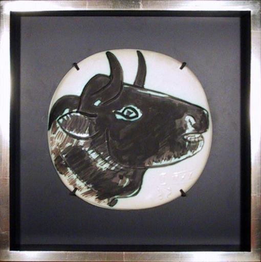 Pablo PICASSO - Ceramiche - Profil de Taureau fonce