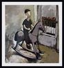 Ramaz ROSTOMASHVILI - Gemälde - Boy on rocking horse