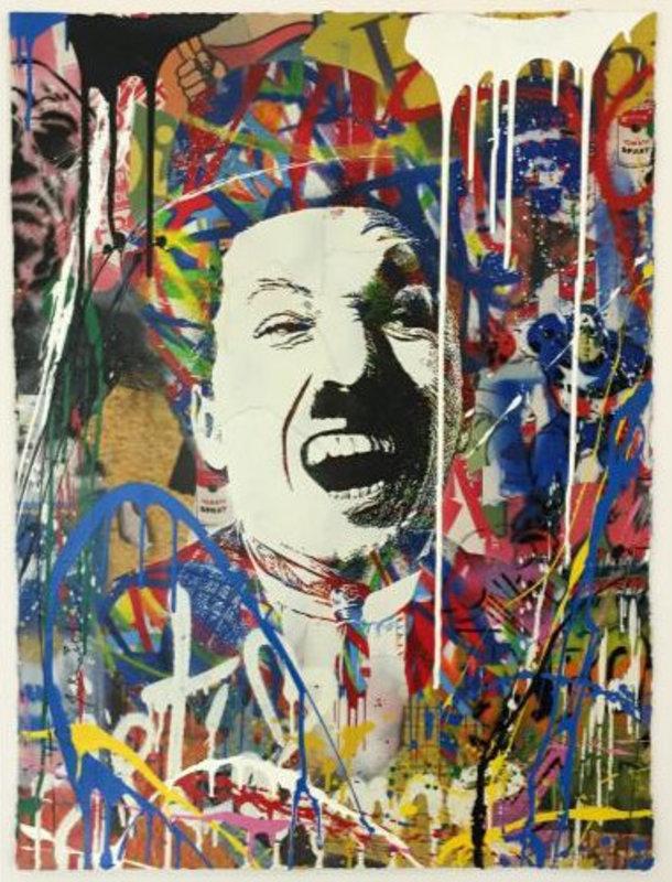 Mr brainwash charlie artwork on the marketplace for Mural by mr brainwash